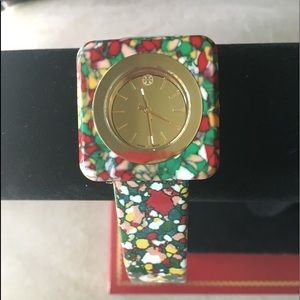 🆕 AUTHENTIC TORY BURCH 'LIZZIE' COLORFUL WATCH